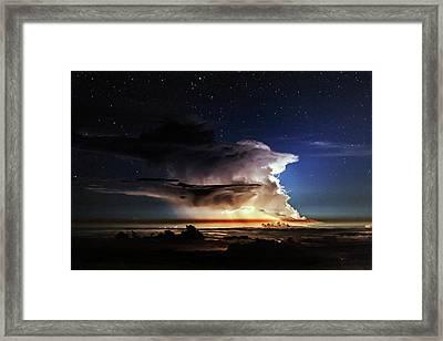 Thunderstorm From Haleakala Framed Print by Babak Tafreshi