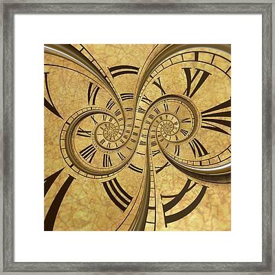 Time Spiral Framed Print by David Parker