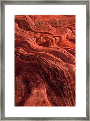 Time Worn Ceiling Of A Red Rock Niche Framed Print by Jerry Ginsberg