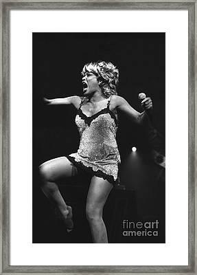 Singer Tina Turner Framed Print by Concert Photos