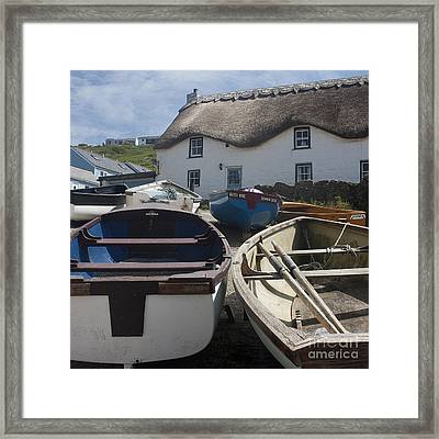 Tinker Taylor Cottage Sennen Cove Cornwall Framed Print by Terri Waters