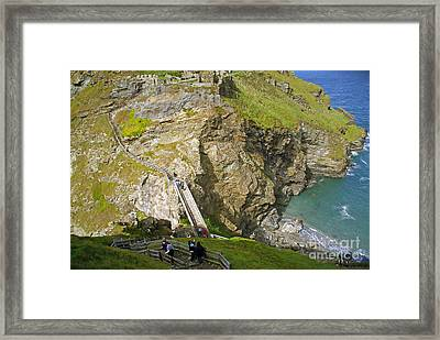 Tintagel Castle Framed Print by Rod Jones