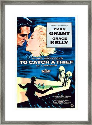 To Catch A Thief, U.s. Poster Art Framed Print by Everett