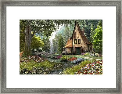 Toadstool Cottage Framed Print by Dominic Davison