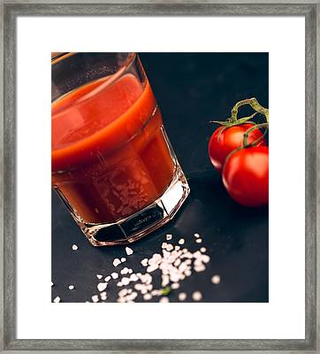 Tomato Juice Framed Print by Nailia Schwarz