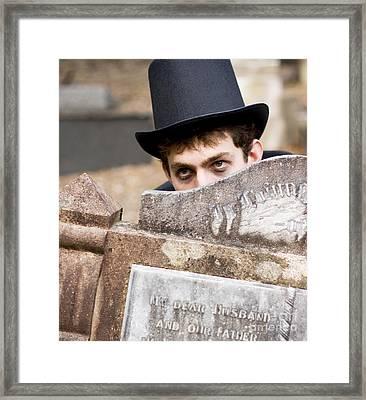 Tomb Stone Peek A Boo Framed Print by Jorgo Photography - Wall Art Gallery