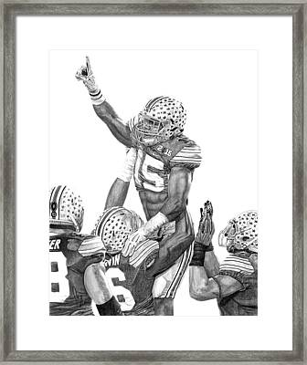 Touchdown Framed Print by Bobby Shaw