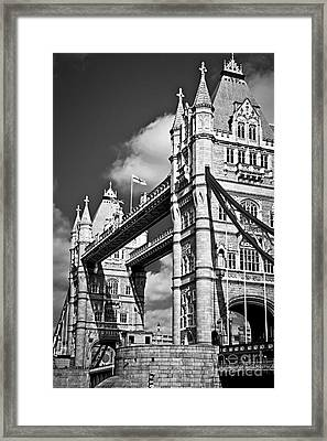 Tower Bridge In London Framed Print by Elena Elisseeva