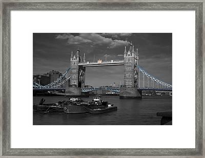 Tower  Bridge Thames London Framed Print by David French