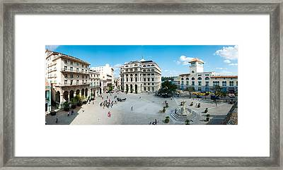 Town Square, Plaza De San Francisco Framed Print by Panoramic Images