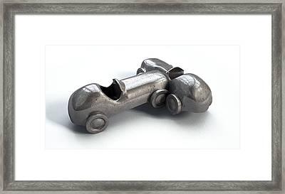 Toy Car Collision Framed Print by Allan Swart