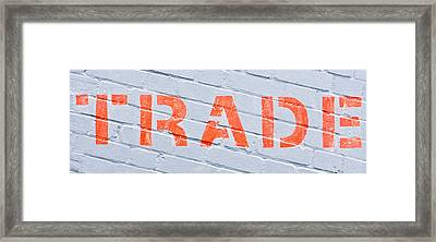 Trade Sign Framed Print by Tom Gowanlock