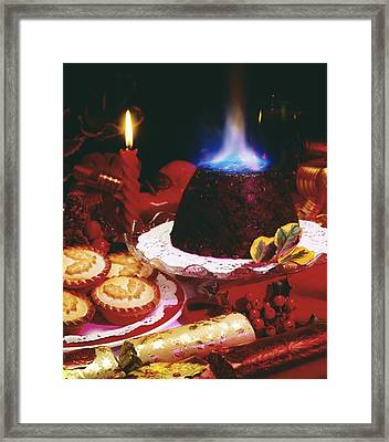 Traditional Christmas Dinner In Ireland Framed Print by The Irish Image Collection