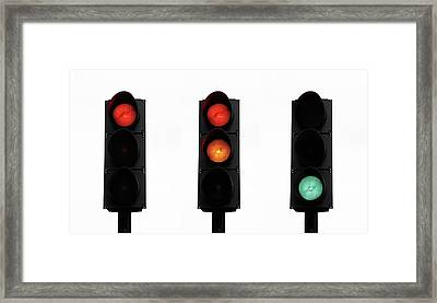 Traffic Lights Framed Print by Cordelia Molloy