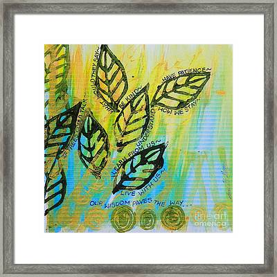 Trees And Poetry Too Framed Print by Teresa St George