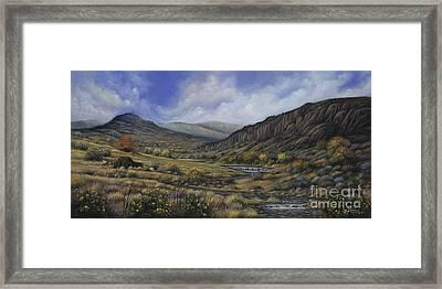 Tres Piedras Framed Print by Ricardo Chavez-Mendez