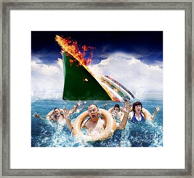 Trouble In Paradise Framed Print by Jorgo Photography - Wall Art Gallery