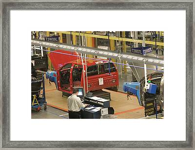 Truck Assembly Production Line Framed Print by Jim West