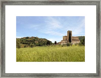 Tuscany - Abbazia Di Sant'antimo Framed Print by Joana Kruse