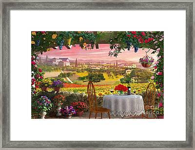 Tuscany Hills Framed Print by Dominic Davison