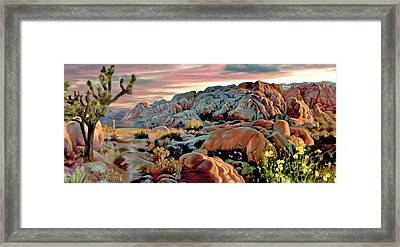Twilight At Joshua 2 Framed Print by Ron Chambers