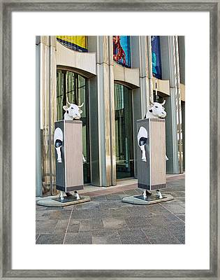 Cow Parade N Y C 2000 - Twin Cowers Framed Print by Allen Beatty