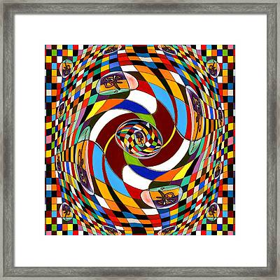 #1 Twisted Combination Framed Print by George Curington
