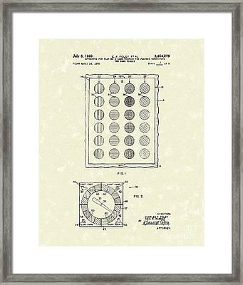 Game 1969 Patent Art Framed Print by Prior Art Design