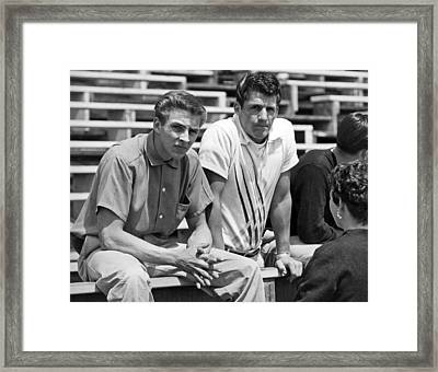 Two 1950s Teenagers Framed Print by Underwood Archives