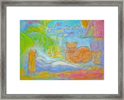 Two Felines Framed Print by Barbara Anna Knauf