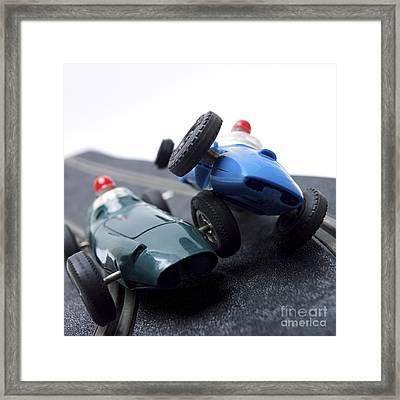 Two Racecars Framed Print by Bernard Jaubert