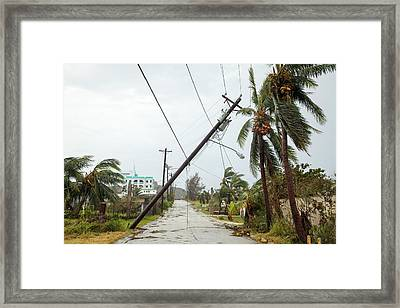 Typhoon Dolphin Aftermath Framed Print by Jim Edds