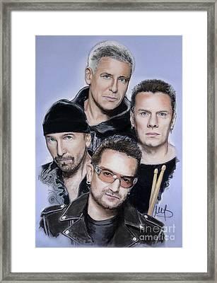 U2 Framed Print by Melanie D