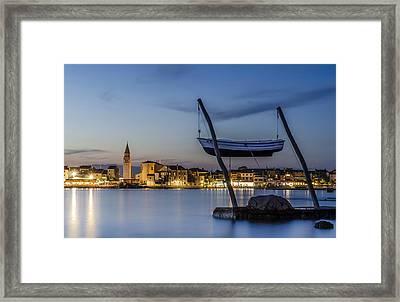 Umag By The Night Framed Print by Dejan Stojakovic