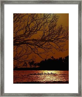 Under The Sunset Framed Print by Athala Carole Bruckner