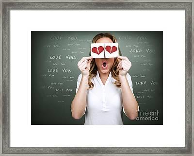 Unhappy Love Framed Print by Anna Om