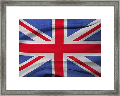 Union Jack Flag Framed Print by Les Cunliffe