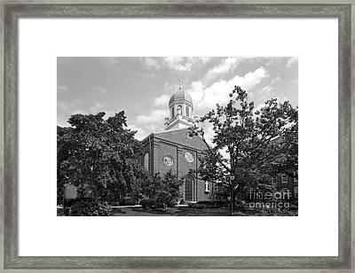 University Of Dayton Chapel Framed Print by University Icons