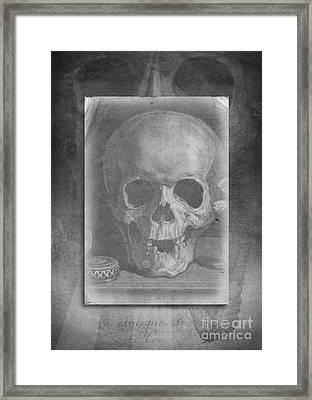 Untitled Skull Framed Print by Edward Fielding