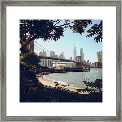 Upon The Brooklyn Shore Framed Print by Natasha Marco
