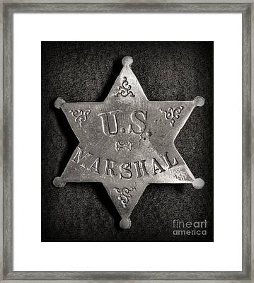 Us Marshal - Law Enforcement - Badge - Cowboy Framed Print by Paul Ward