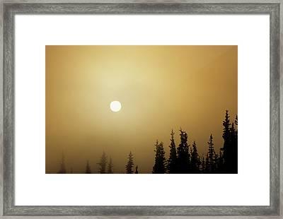 Usa, Alaska, Fog, Sunrise, Winter Framed Print by Gerry Reynolds