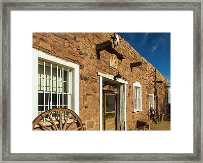 Usa, Arizona, Hubbell Trading Post Framed Print by Jerry Ginsberg