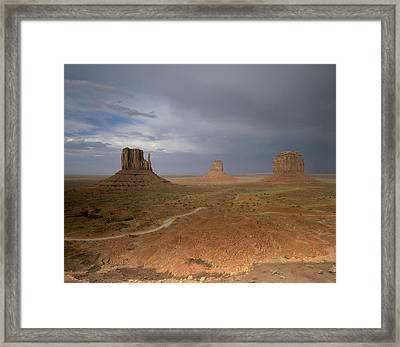 Usa, Arizona, Monument Valley, The Framed Print by Tips Images