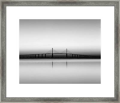 Usa, Florida, Sunshine Skyway Bridge Framed Print by Adam Jones