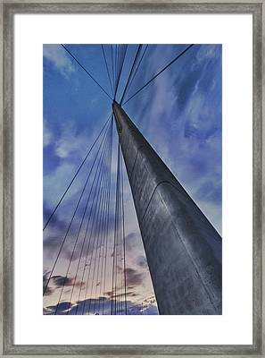 Usa, Nebraska And Iowa Framed Print by Christopher Reed