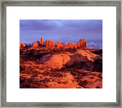 Usa, Utah Arches National Park Arches Framed Print by Jaynes Gallery