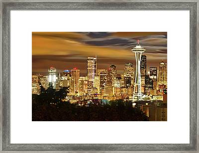 Usa, Washington, Seattle Framed Print by Christopher Reed