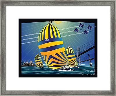Usna High Noon Sail Framed Print by Joe Barsin
