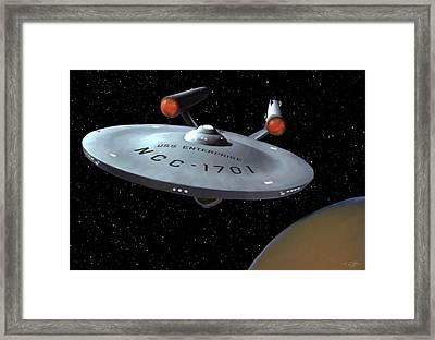 Uss Enterprise Framed Print by Paul Tagliamonte